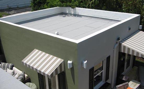 Atap Datar pada Rumah Kubik